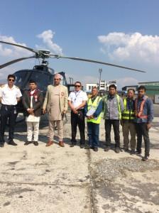 Vice-President Nanda Bahadur Pun with Manang Air family